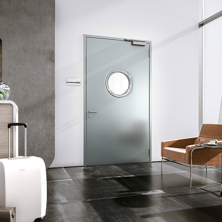 NovoPorta Plano steel doors (flush closing)